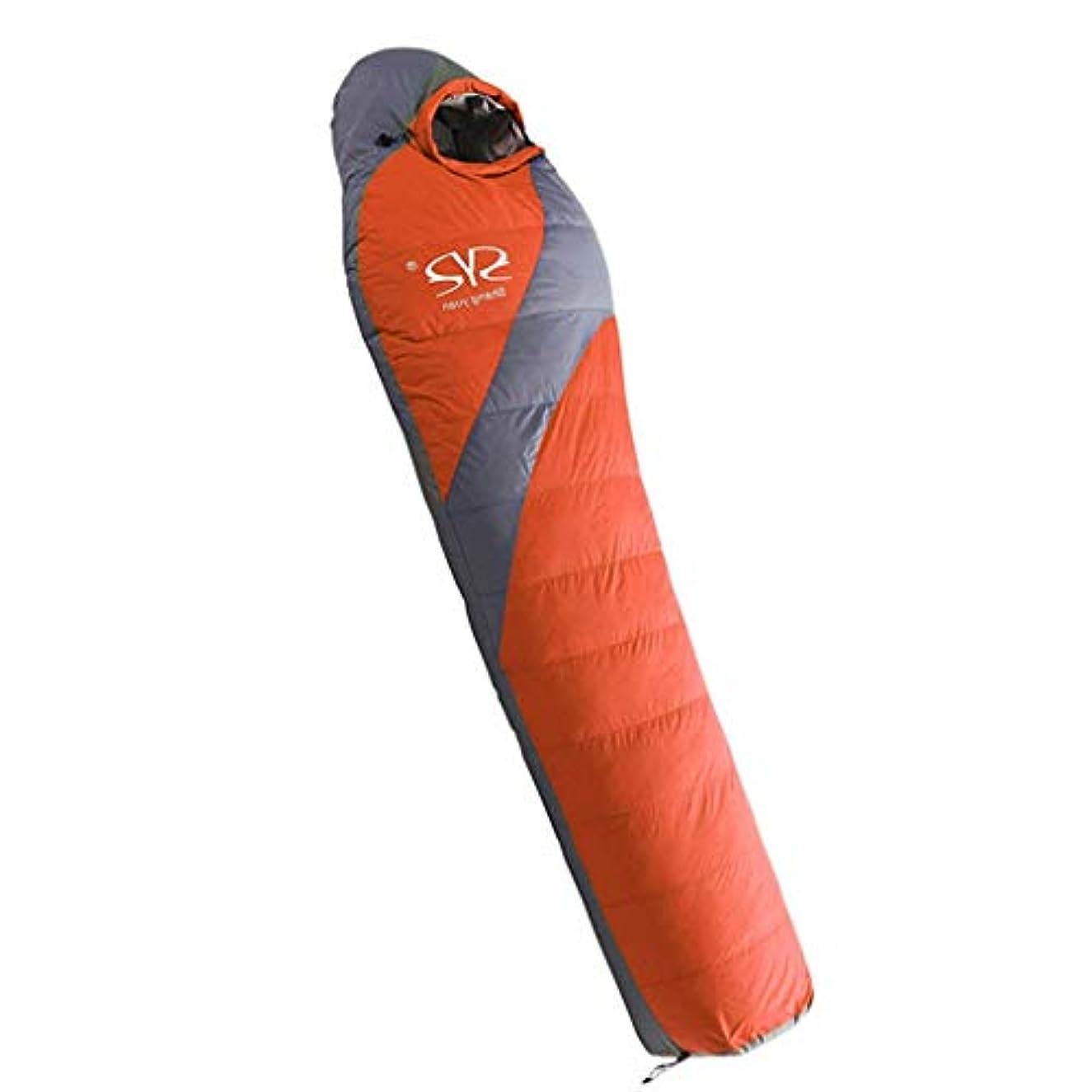 広大なピジンパスポートミイラ寝袋暖かいアウトドア旅行厚いキャンプダウン寝袋