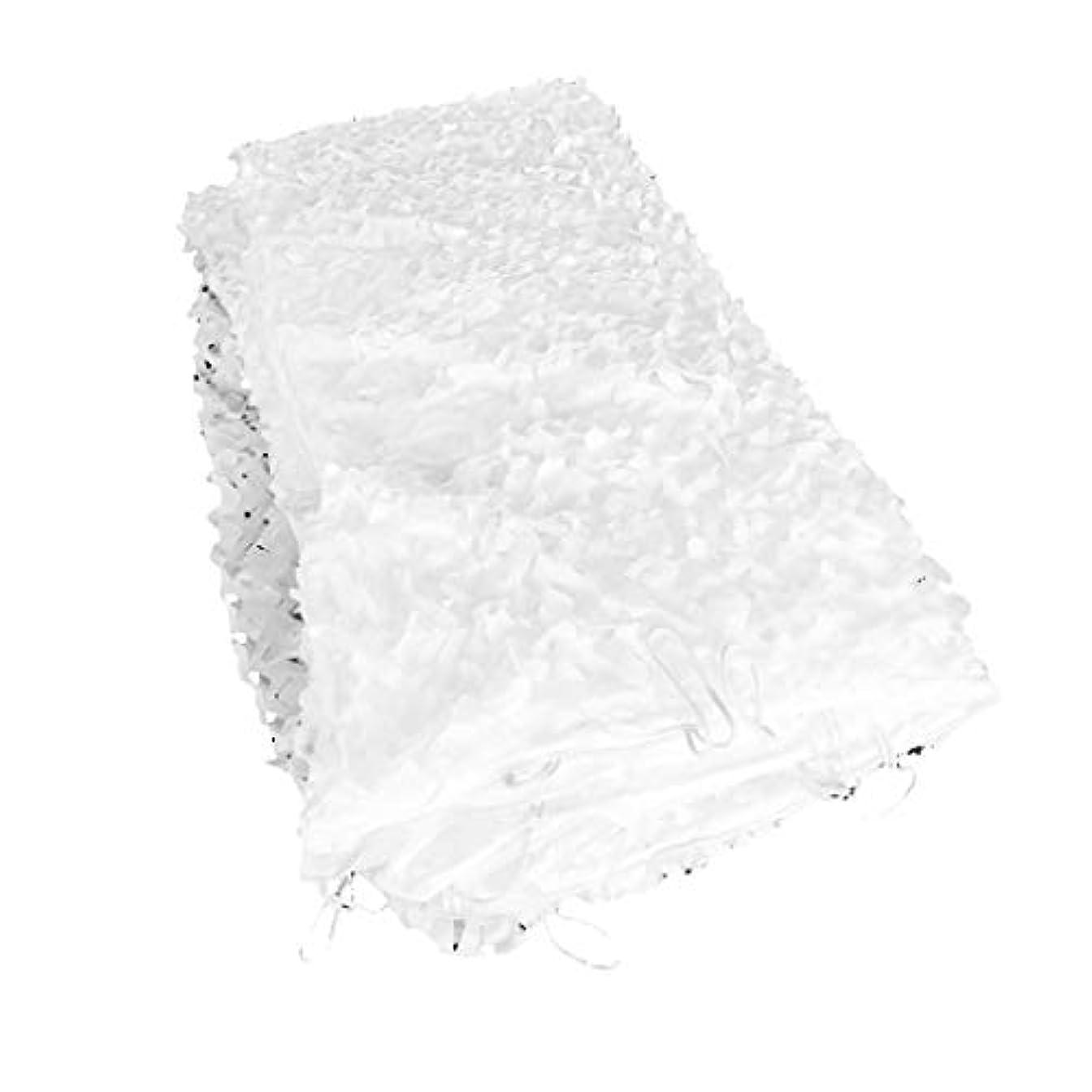 死ぬ期限ケイ素遮光ネット迷彩ネット 庭のフェンスシェード、日迷彩軍のネットワーク強化キャンプの写真オックスフォード布オーニングテント隠された広大な庭園の装飾白サイズプライベートバルコニー (Size : 2*20M(6.6*65.6ft))