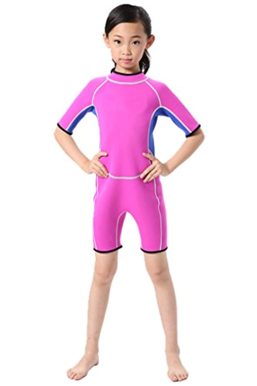 Cokar子供用ウェットスーツShorty Short Sleeve 2.5 MMネオプレンOne Piece水着Boys Girls Diving Suit