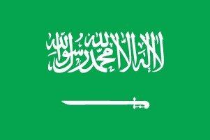 サウジアラビア国旗[70×100cm綿100%]