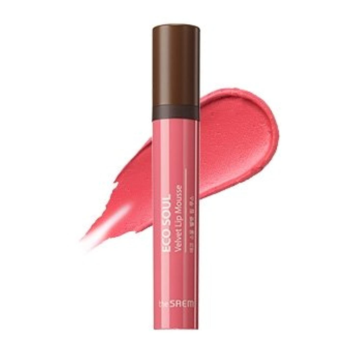 マサッチョアブストラクト岸the SAEM Eco Soul Velvet Lip Mousse 5.5g/ザセム エコ ソウル ベルベット リップ ムース 5.5g (#CR01 Bless You) [並行輸入品]