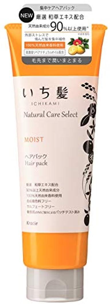 散文推進力明示的にいち髪ナチュラルケアセレクト モイスト(毛先まで潤いまとまる)ヘアパック180g シトラスフローラルの香り