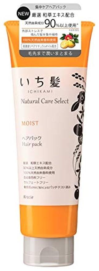 精神特権的故障中いち髪ナチュラルケアセレクト モイスト(毛先まで潤いまとまる)ヘアパック180g シトラスフローラルの香り