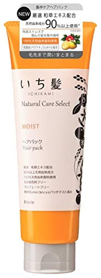 燃やす有効化免除するいち髪ナチュラルケアセレクト モイスト(毛先まで潤いまとまる)ヘアパック180g シトラスフローラルの香り