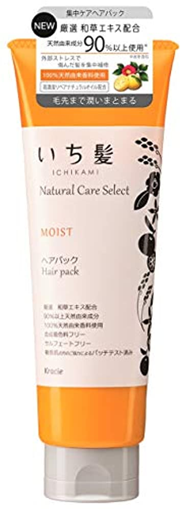 小麦粉入場料ジャーナルいち髪ナチュラルケアセレクト モイスト(毛先まで潤いまとまる)ヘアパック180g シトラスフローラルの香り