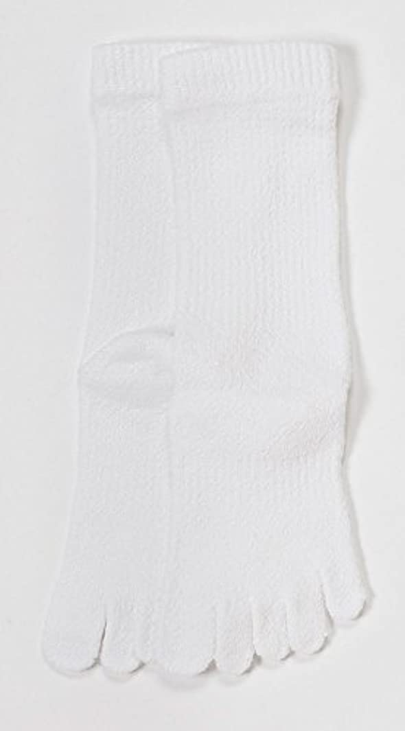 非武装化である水を飲むLASANTE 1150:ユビレッグスポーツ厚手5本指ソックス(五本指靴下) S?M