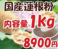山口県産 天然の蓮根粉100%使用 国産 れんこんパウダー 1kg