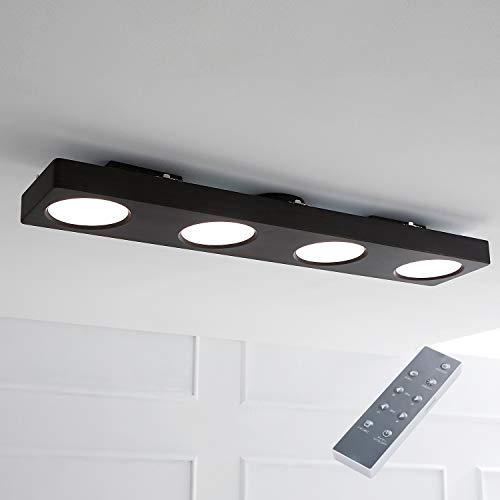 LOWYA 天井照明 おしゃれ シーリングライト LED 照明 6畳 8畳 ライト ウォルナット
