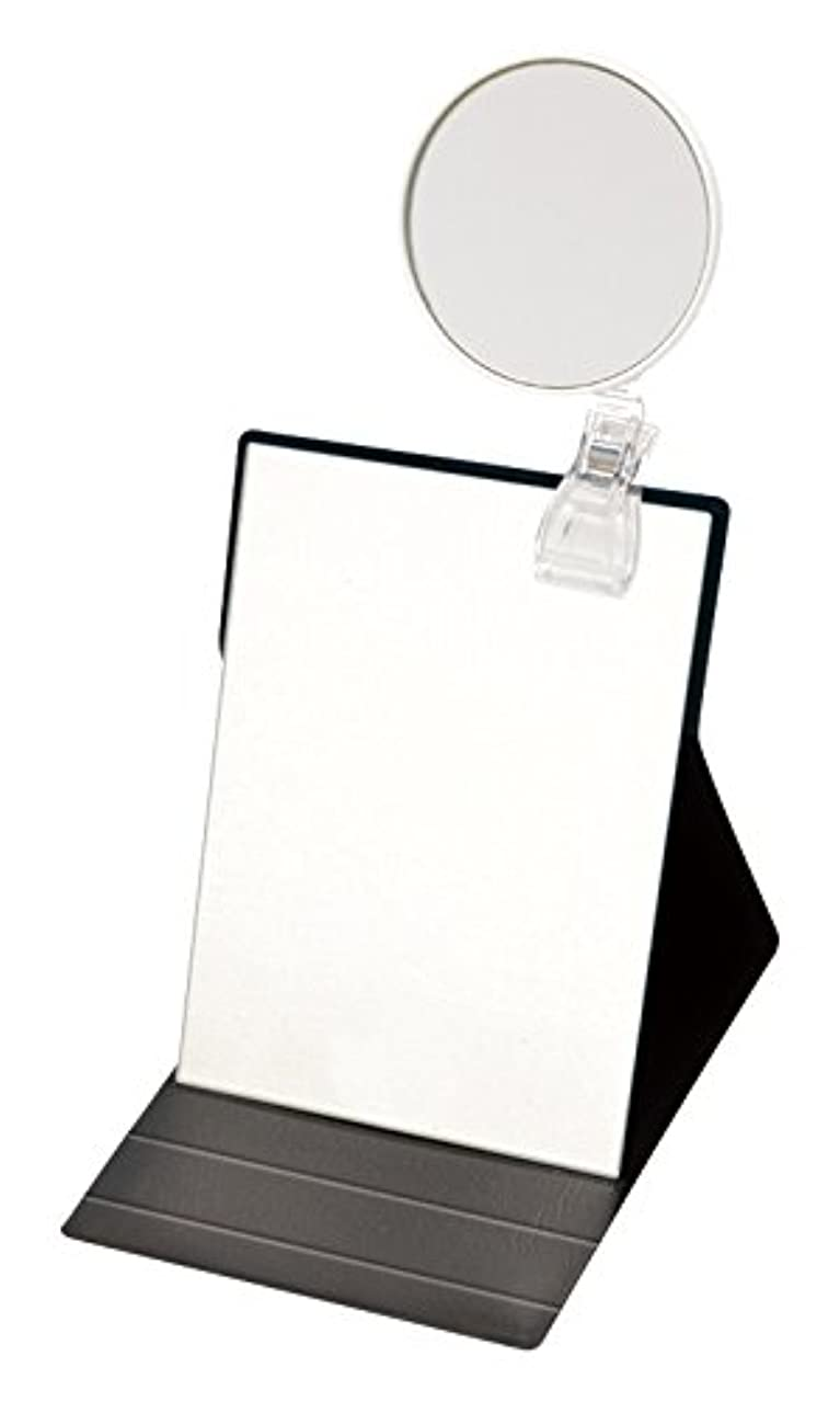 授業料発表する迷信ナピュアミラー 5倍拡大鏡付きプロモデル折立ナピュアミラーM ブラック HP-50×5