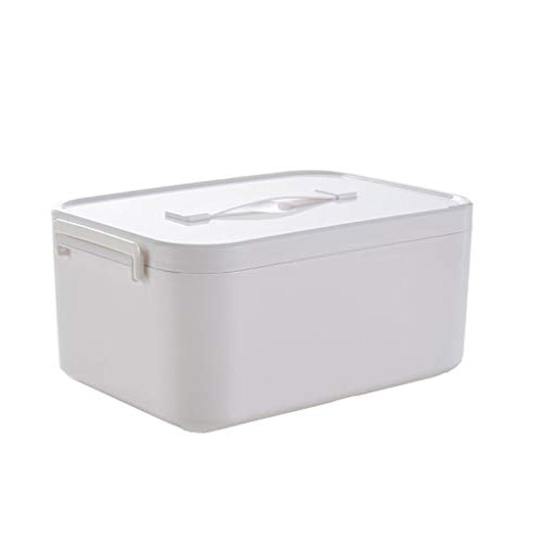 バナー首相帳面家庭用薬箱大小プラスチック白大容量薬収納箱家族収納薬箱 HUXIUPING (Size : L)