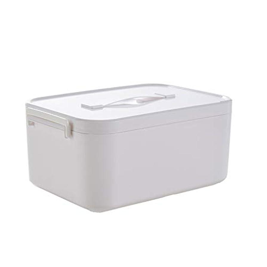 ワックス世紀哀れな家庭用薬箱大小プラスチック白大容量薬収納箱家族収納薬箱 HUXIUPING (Size : L)