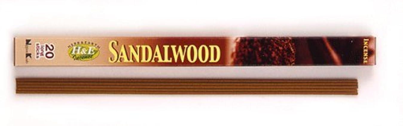 人間降ろすロゴHERB&EARTH Incense SANDALWOOD サンダルウッド スティック 【お香】