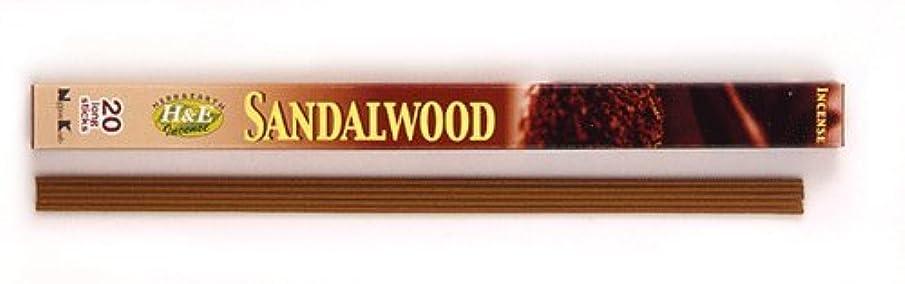 であること望ましい代理人HERB&EARTH Incense SANDALWOOD サンダルウッド スティック 【お香】