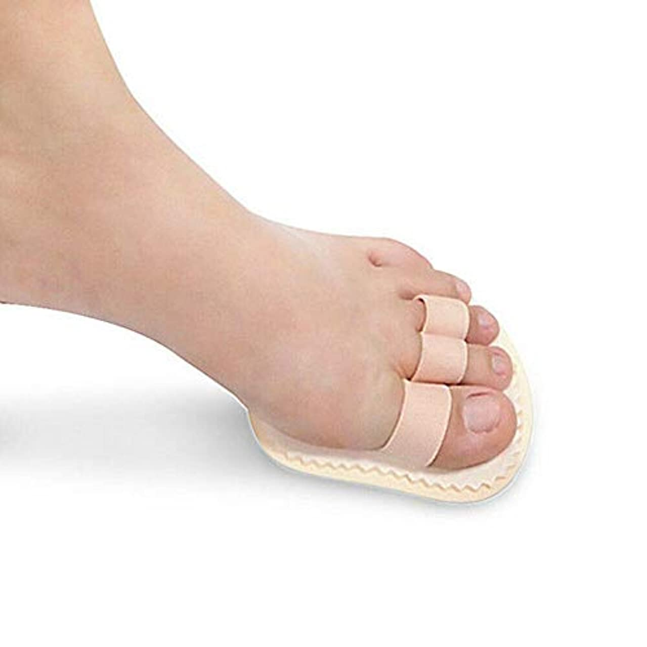偶然のベッドを作る移動するつま先矯正 フットプロテクター フットケアツール 健康管理 腱膜瘤 痛みの緩和 (肌の色, 3爪先:9 * 10.8)