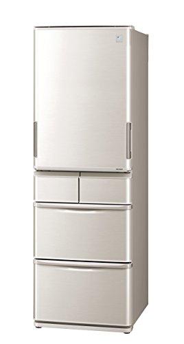 シャープ 冷蔵庫 どっちもドア プラズマクラスター搭載 412Lタイプ シルバー SJ-PW42B-S