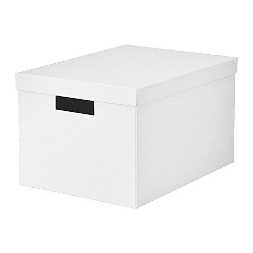 IKEA/イケア TJENA:収納ボックス ふた付き25x35x20 cm(ホワイト)20395425