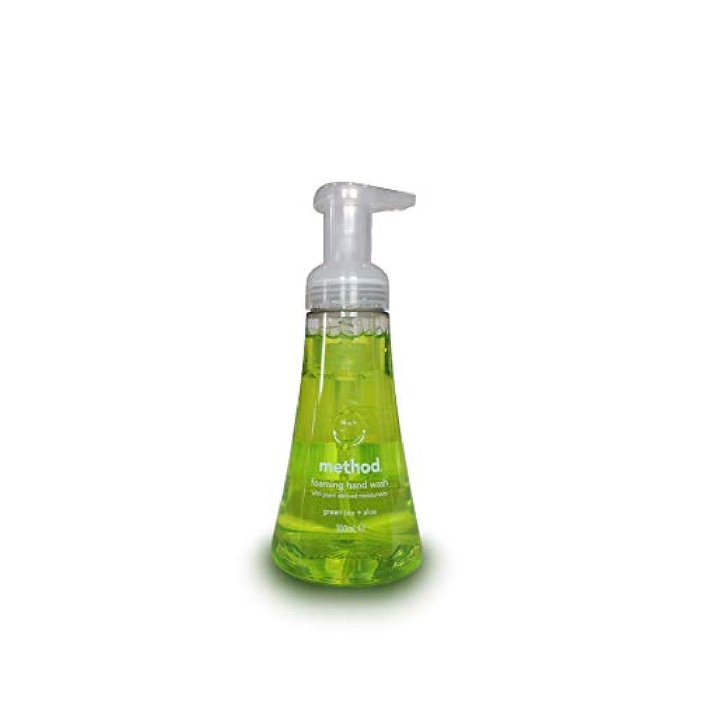 マチュピチュ出撃者糞Method Foam Hand Wash Green Tea Aloe 300 ml (Pack of 3)