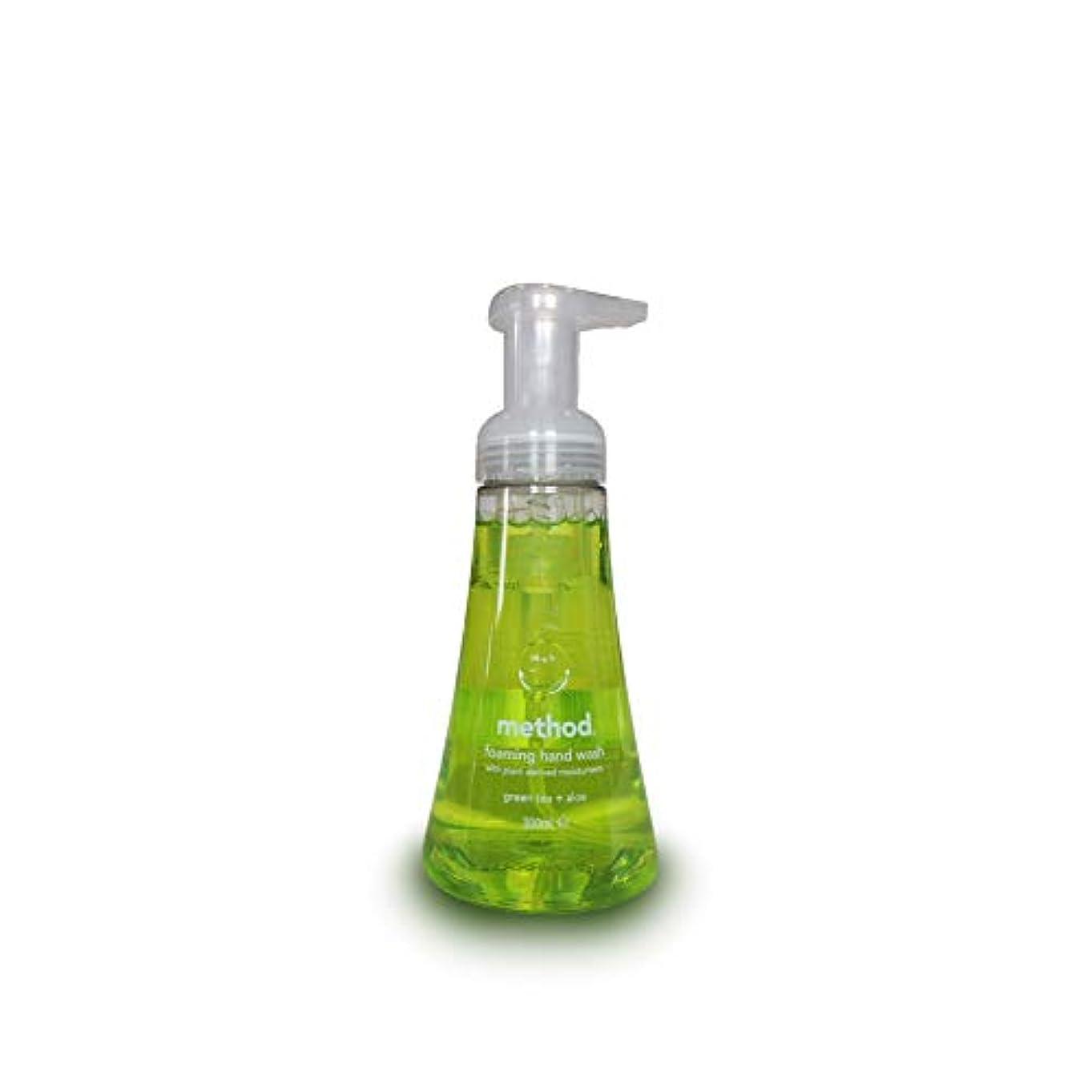 賛辞嘆く庭園Method Foam Hand Wash Green Tea Aloe 300 ml (Pack of 3)