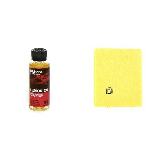 D'Addario ダダリオ レモンオイル クリーナー&コンディショナー Lemon Oil PW-LMN + クリーニングクロス PWPC2 セット 【国内正規品】