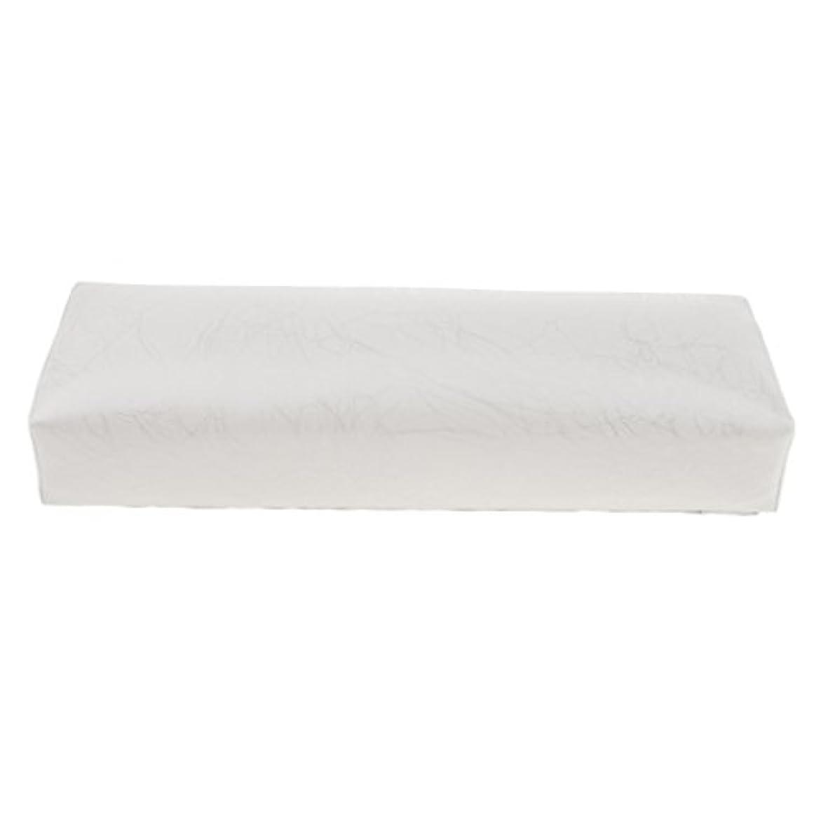 バンジージャンプ台風ぞっとするようなHomyl ハンドピロー ネイルアートピロー アームレストクッション ネイルアート デザイン ハンドレスト 全4色 - 白
