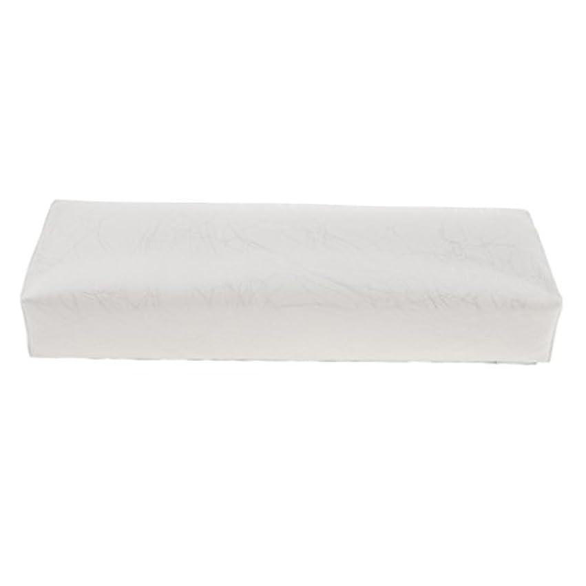 州月面口述Homyl ハンドピロー ネイルアートピロー アームレストクッション ネイルアート デザイン ハンドレスト 全4色 - 白