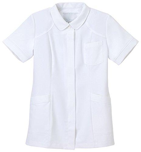 ナガイレーベン 女子上衣 医療白衣 半袖 ホワイト S CB-1542