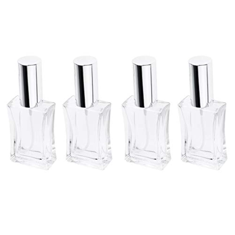 B Blesiya 4本 スプレーボトル ガラス 香水瓶 50ml