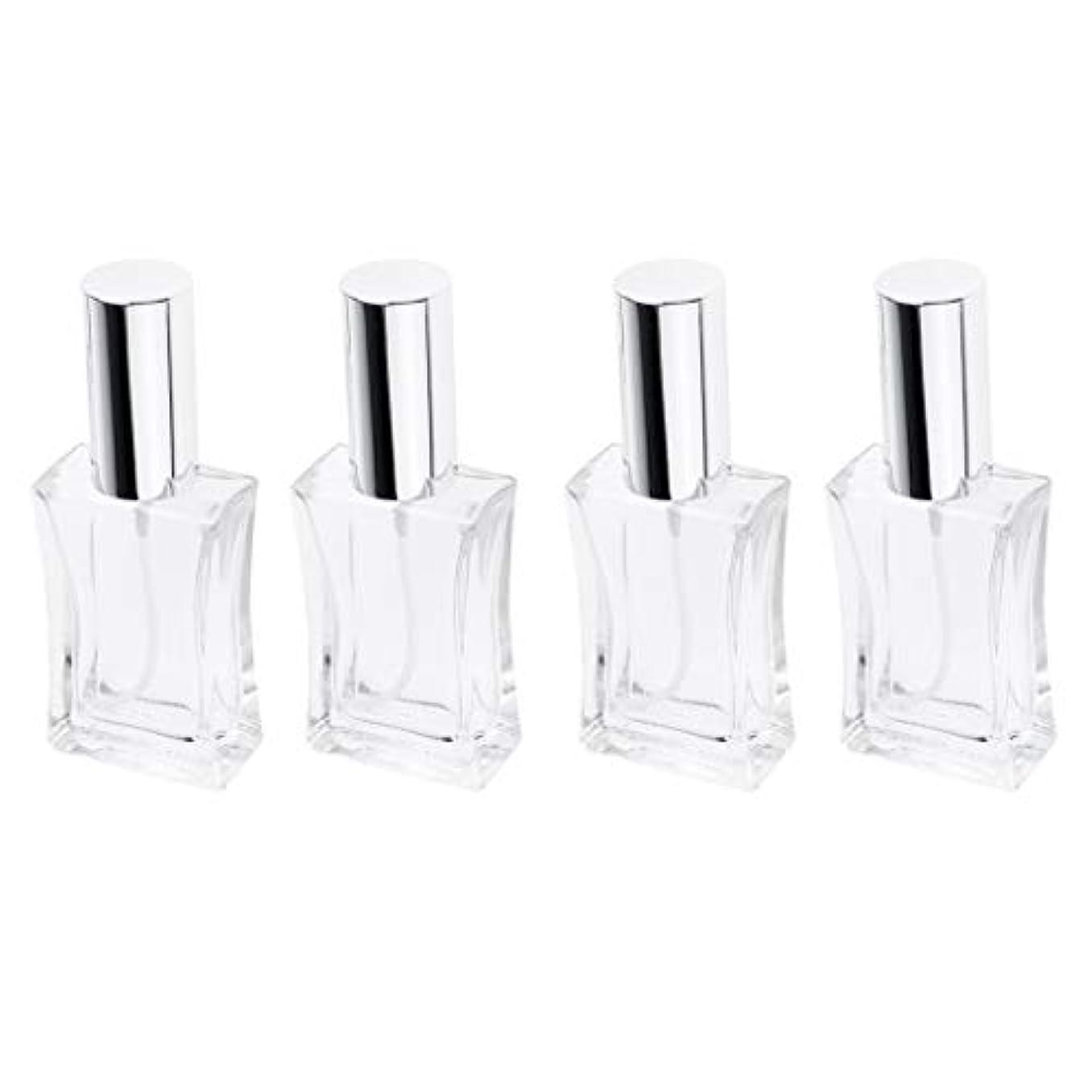 仲良しテレビ組み合わせる4本 スプレーボトル ガラス 香水瓶 50ml