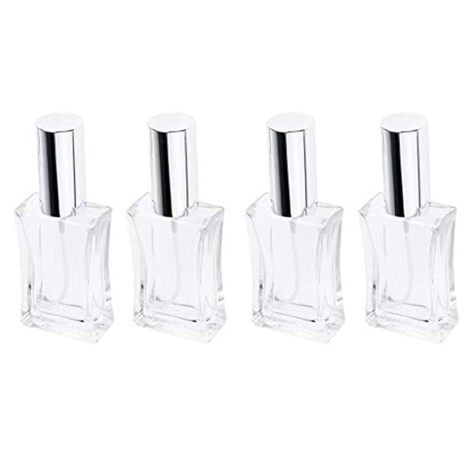 拮抗保証するパイル4本 スプレーボトル ガラス 香水瓶 50ml