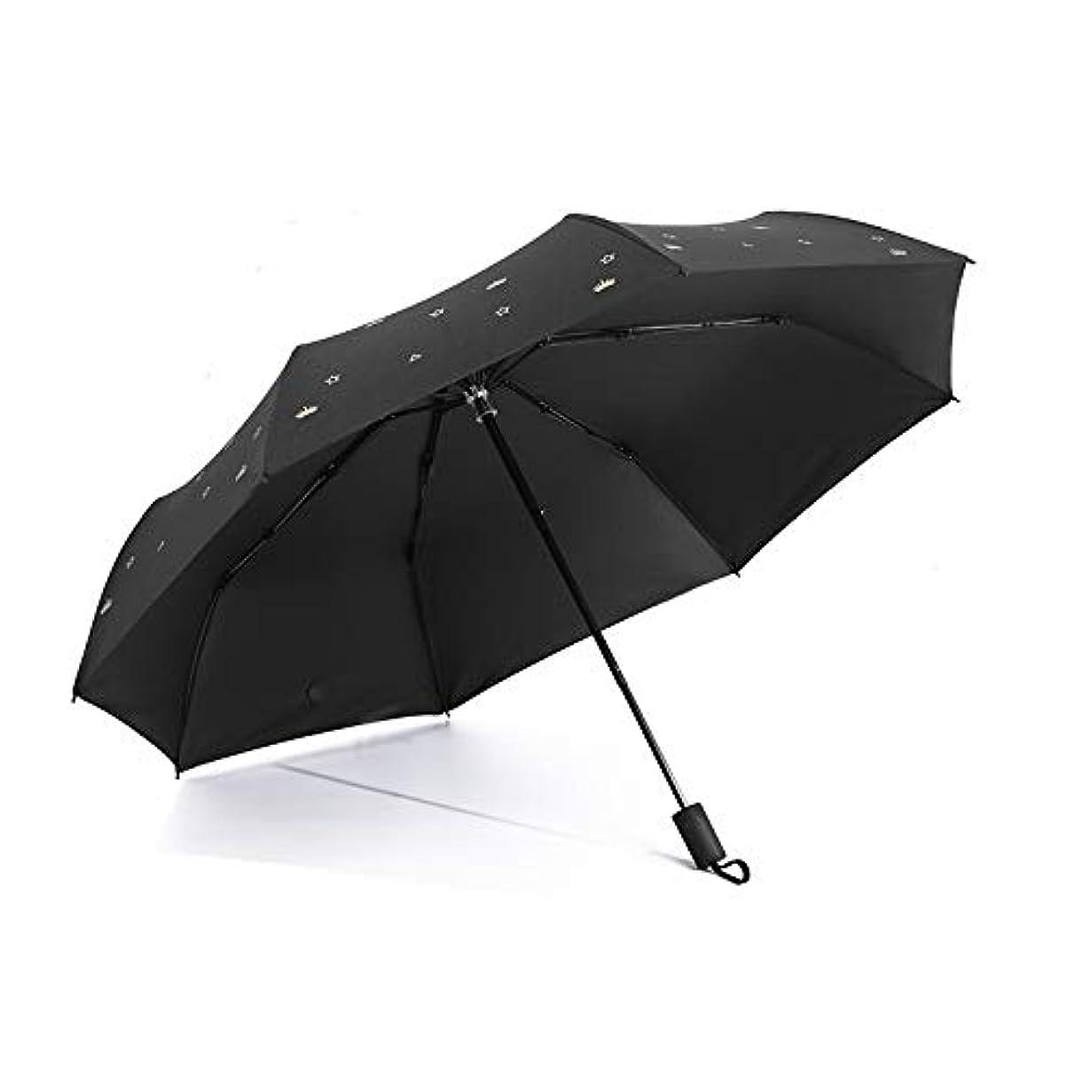 デンマーク語地中海高尚なHAPPY HOME 新しいクラウン太陽傘マニュアル30%黒いプラスチック日焼け止めUV傘小さな新鮮な雨と雨傘