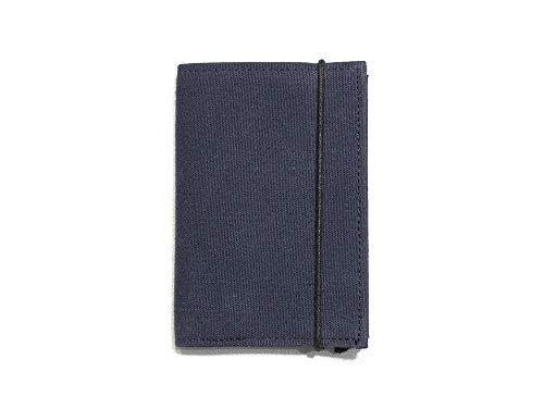 Litt - ミニマルな小さい財布 (紺色-右利き用)