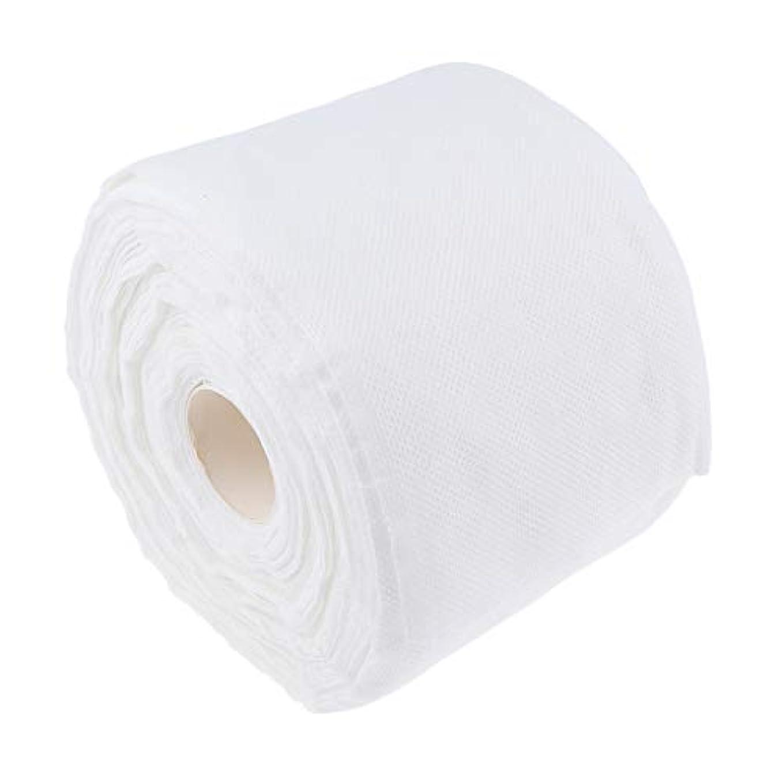 F Fityle メイクコットンパッド 使い捨て 柔らか コットン タオル クリーニング 拭き取り ティッシュロール