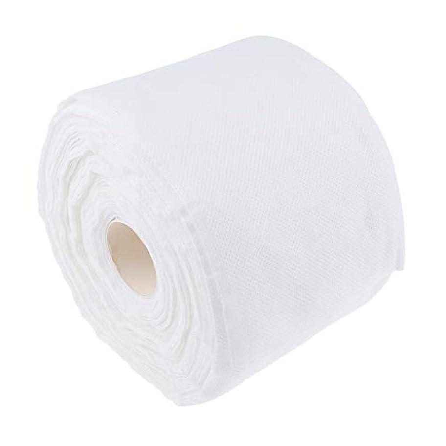 成り立つ受動的ブロックするToygogo 1ロール125ピース美容ソフトコットン使い捨て洗濯タオルサロン洗顔化粧リムーバー化粧品パッドホワイト