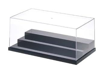 ウェーブ ディスプレイ T・ケース (L) ステージ ブラック ミニフィギュア対応 プラスチック製 W280×D150×H113mm (内寸) TC031 ディスプレイケース