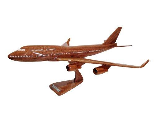 MocPro木製エアプレーンモデル ハンドメイド木製飛行機模型 ボーイング747 Lsize