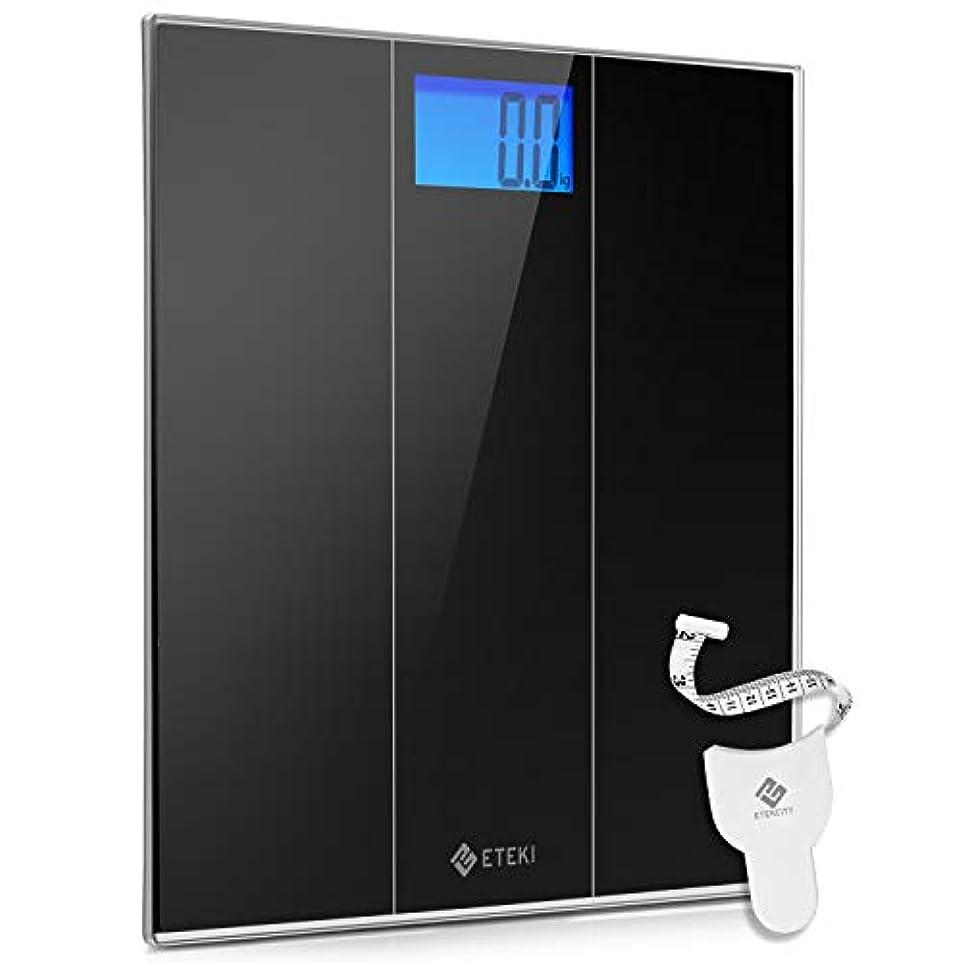血色の良いテザー食欲Eteki 体重計 デジタル ヘルスメーター おまけのメジャー付き 高精度のボディースケール 5kgから180kgまで測定でき 乗るだけで電源ON 薄型で軽量収納しやすい 4074S電子スケール(電池付属)