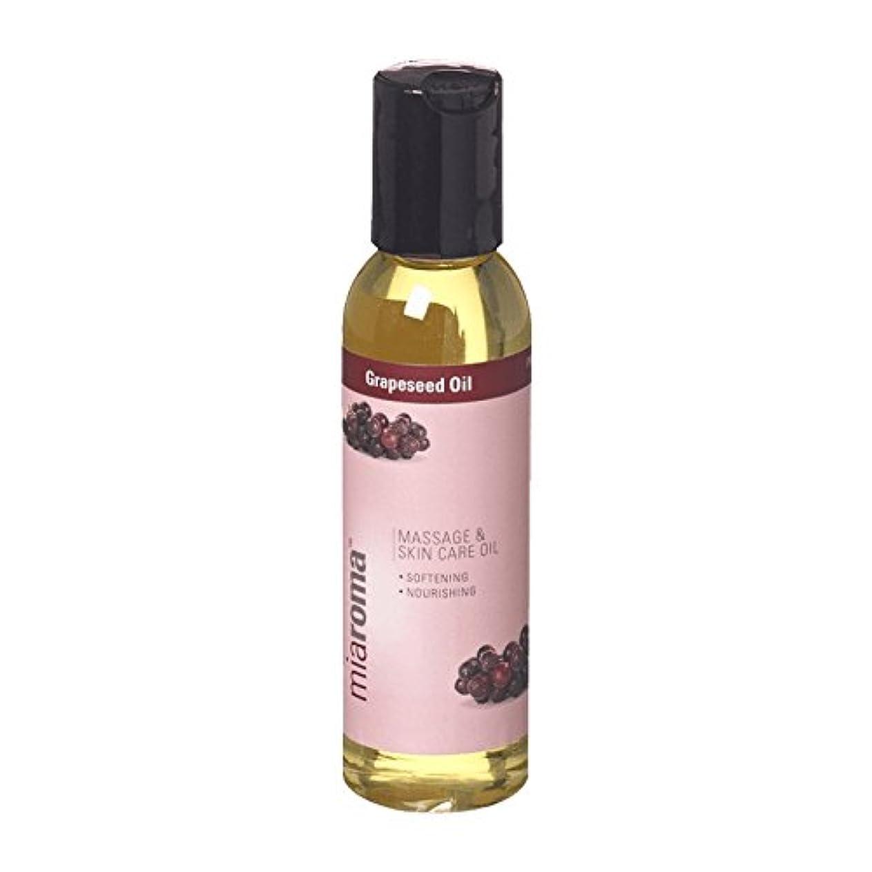 人口ワームナチュラMiaroma Grapeseed Massage Base Oil (Pack of 6) - Miaromaのブドウマッサージベースオイル (x6) [並行輸入品]