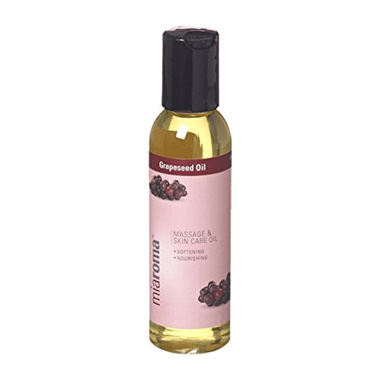 地殻かび臭いナットMiaroma Grapeseed Massage Base Oil (Pack of 2) - Miaromaのブドウマッサージベースオイル (x2) [並行輸入品]