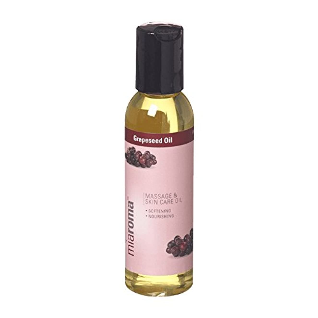厳限られた勤勉Miaroma Grapeseed Massage Base Oil (Pack of 6) - Miaromaのブドウマッサージベースオイル (x6) [並行輸入品]