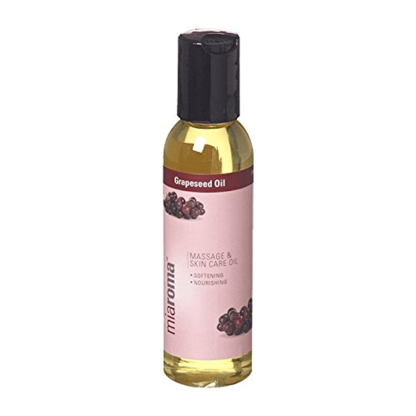 抗議リアルすり減るMiaroma Grapeseed Massage Base Oil (Pack of 6) - Miaromaのブドウマッサージベースオイル (x6) [並行輸入品]