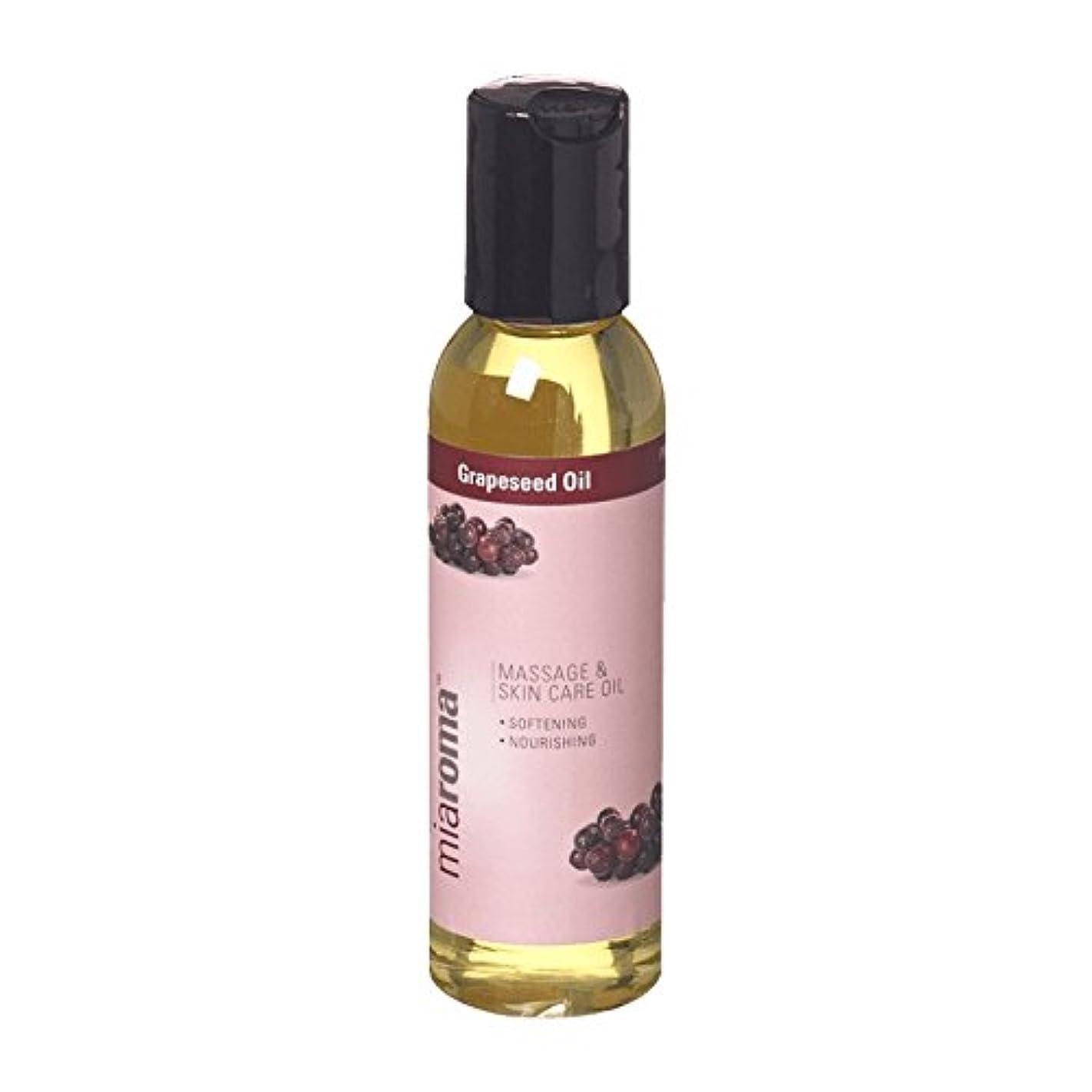 グリルハンカチ貞Miaroma Grapeseed Massage Base Oil (Pack of 2) - Miaromaのブドウマッサージベースオイル (x2) [並行輸入品]