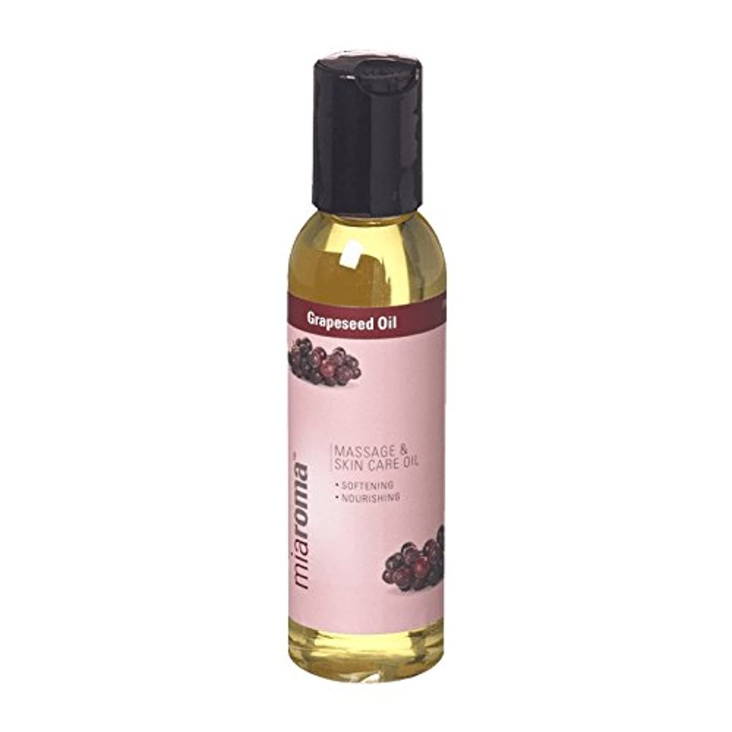 マークされた道徳教育ズームMiaroma Grapeseed Massage Base Oil (Pack of 6) - Miaromaのブドウマッサージベースオイル (x6) [並行輸入品]