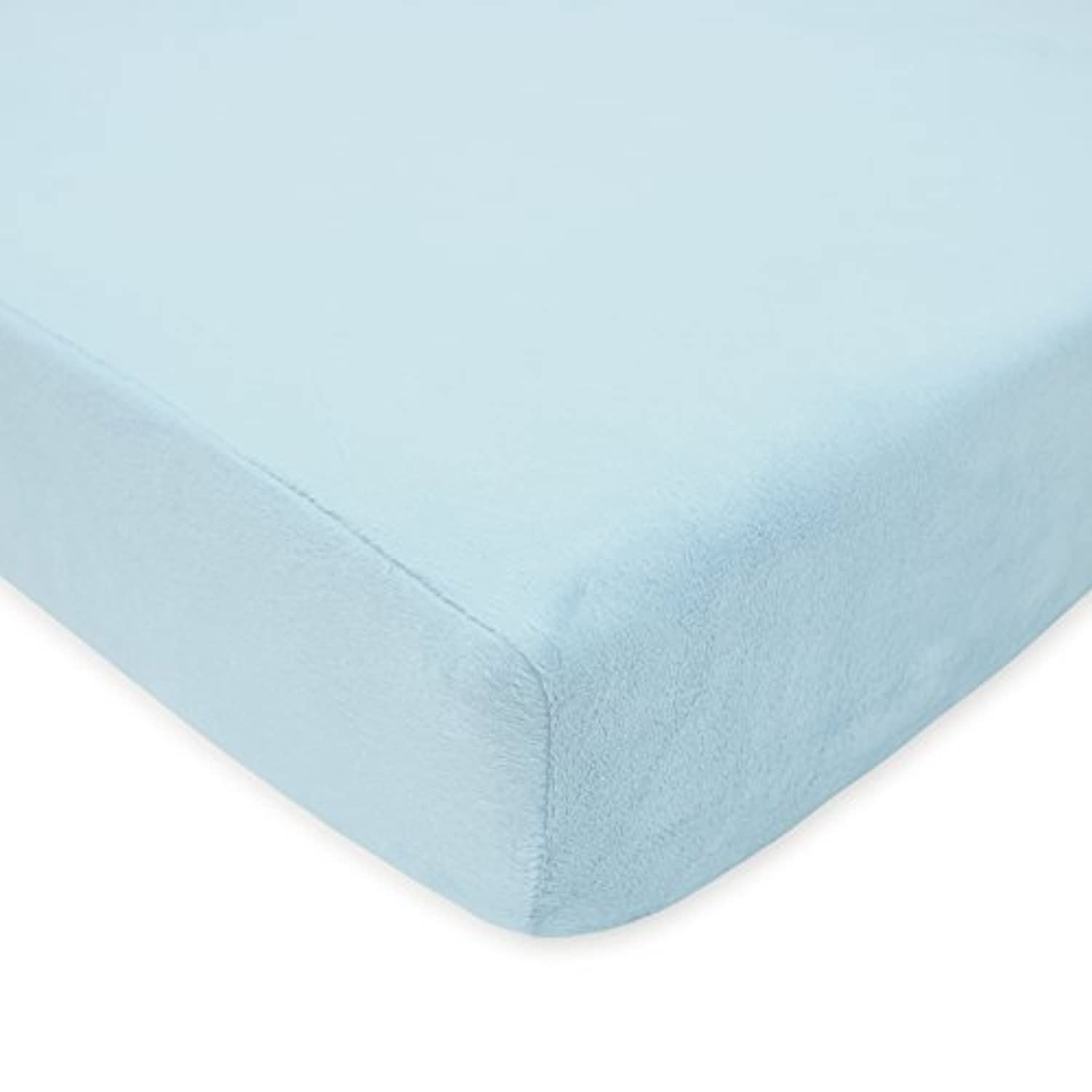 American Baby Company Heavenly Soft Chenille Crib Sheet, Blue by American Baby Company