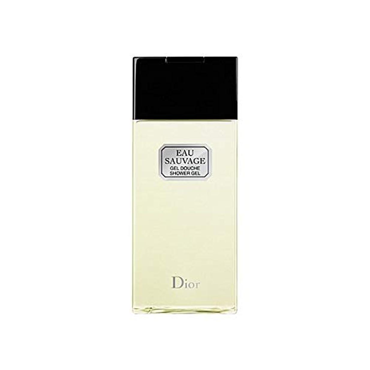 庭園ガラス残る[Dior ] ディオールオーソバージュシャワージェル200Ml - Dior Eau Sauvage Shower Gel 200ml [並行輸入品]