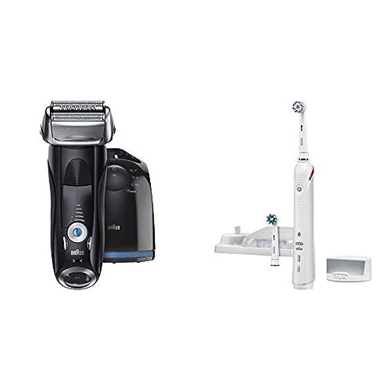 ペイント銛定義【Amazon.co.jp 限定】ブラウン メンズ電気シェーバー シリーズ7 7760cc 4カットシステム 洗浄機付 水洗い可 & ブラウン オーラルB 電動歯ブラシ スマート4000 D6015253P
