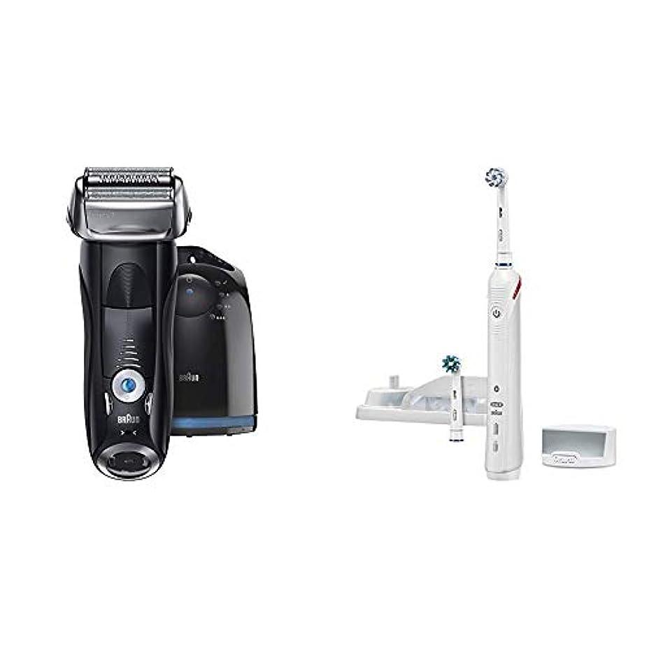 杖経済的恥ずかしい【Amazon.co.jp 限定】ブラウン メンズ電気シェーバー シリーズ7 7760cc 4カットシステム 洗浄機付 水洗い可 & ブラウン オーラルB 電動歯ブラシ スマート4000 D6015253P