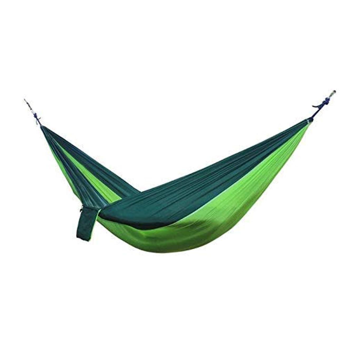 会員地区額プールイエローグリーンポータブルハンモックチェアキャンプハングは屋外ベッドハンギングベッドスイングスリーピングマットスイングハンギング