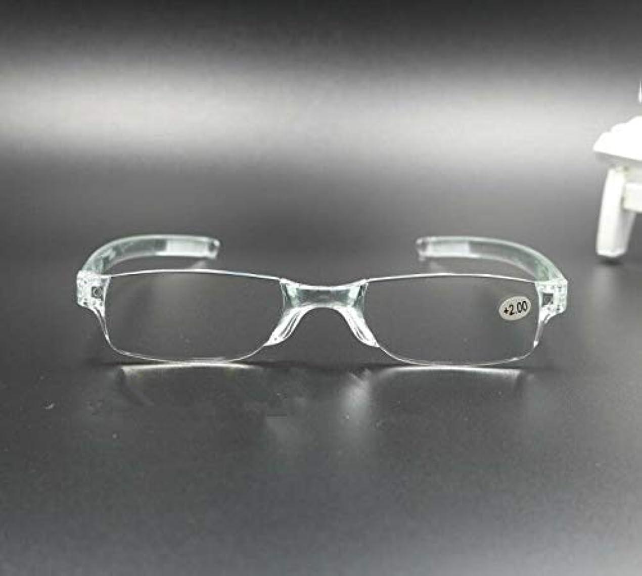 慢モールス信号ダメージFidgetGear 携帯用縁なし老眼鏡リーダー眼鏡+1.0 1.5 2.0 2.5 3.0 3.5 4.0 トランスペアレント