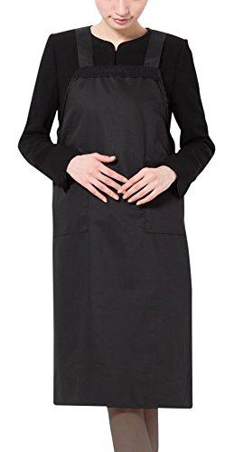 Amel(エイメル)レース切り替えブラックフォーマルエプロン(前掛け) 冠婚葬祭 カラー:ブラック サイズ:フリー