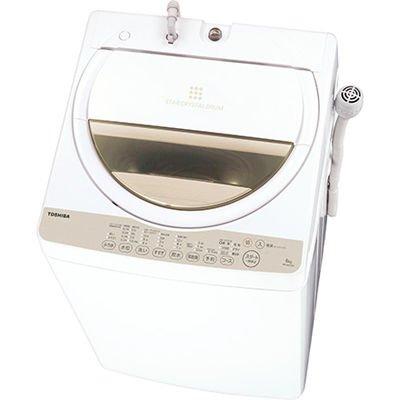東芝 全自動洗濯機 グランホワイト 6kg AW-6G3(W) AW-6G3(W)